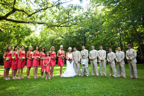 groomsmen and bridesmaids
