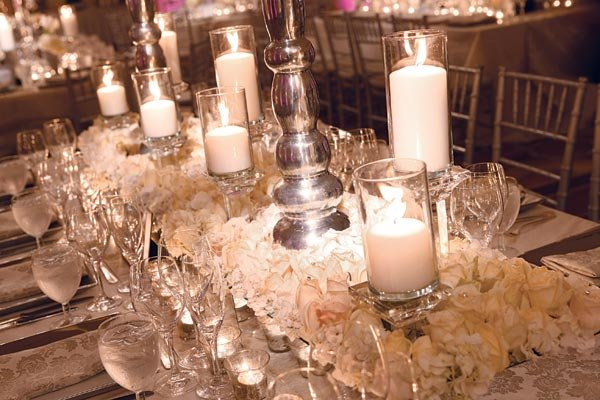 table setting & Planning a Winter Wonderland Wedding BridalGuide