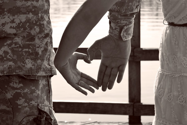 Army Love Engagement Photos BridalGuide