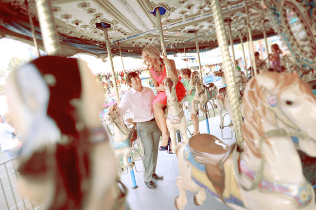 carnival theme engagement photos