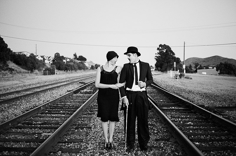 Charlie Chaplin couple