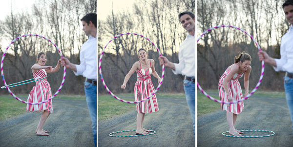 circus theme engagement photos