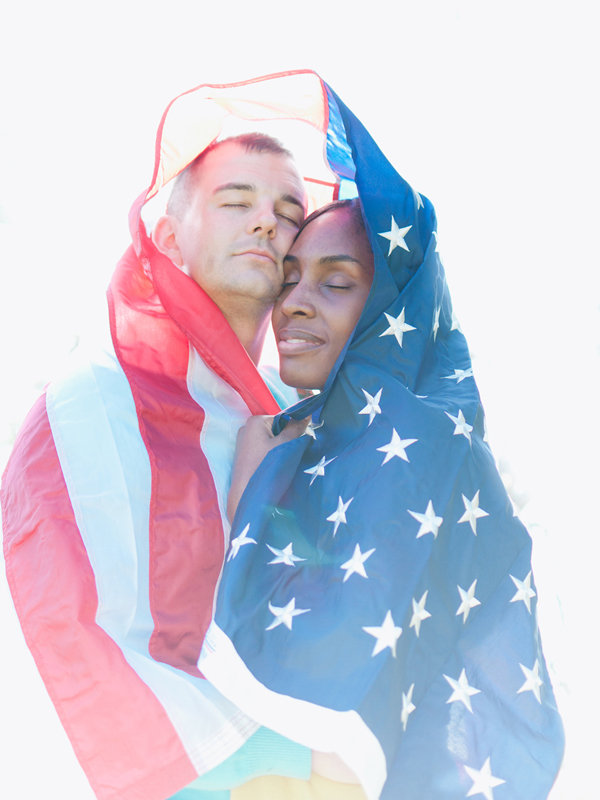 patriotic engagement photos