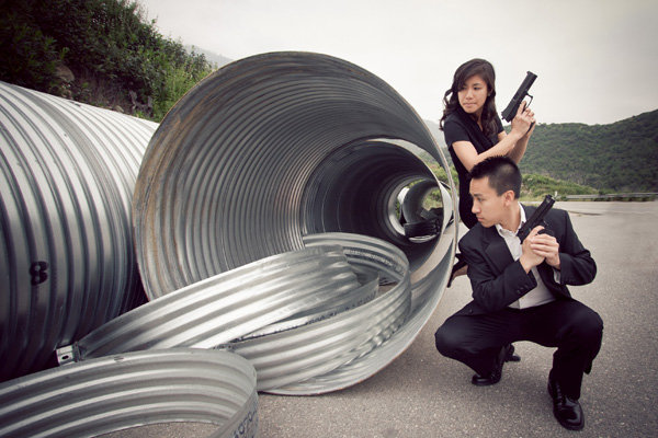 mr and mrs smith engagement photos