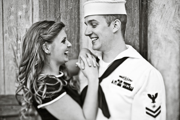 navy sailor engagement photos