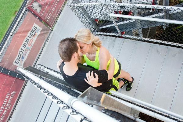 On Your Mark Get Set Go Running Themed Engagement