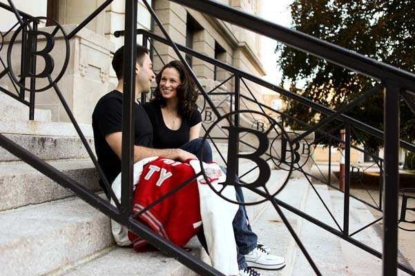 high school sweethearts engagement photos