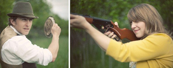 skeet shooting engagement photos
