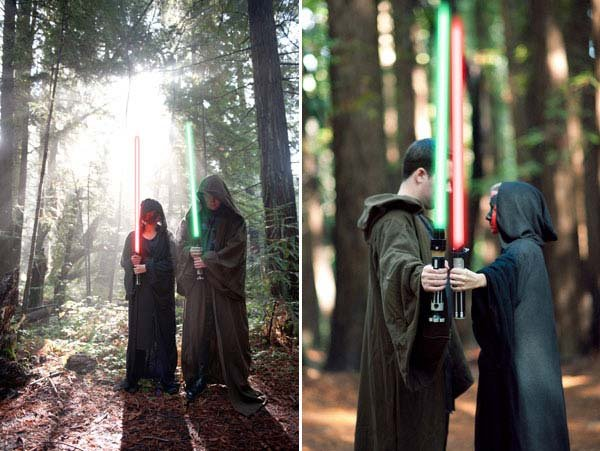 star wars theme engagement photos