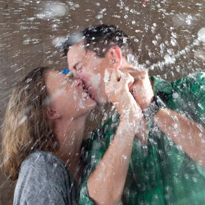 water balloon engagement photos