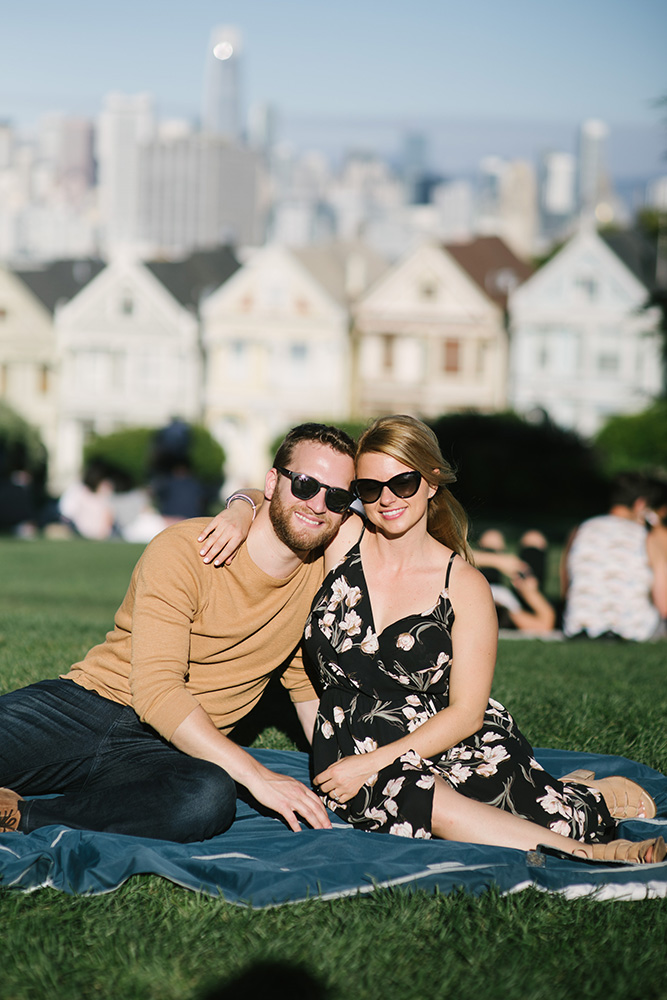 Engagement photo in San Francisco