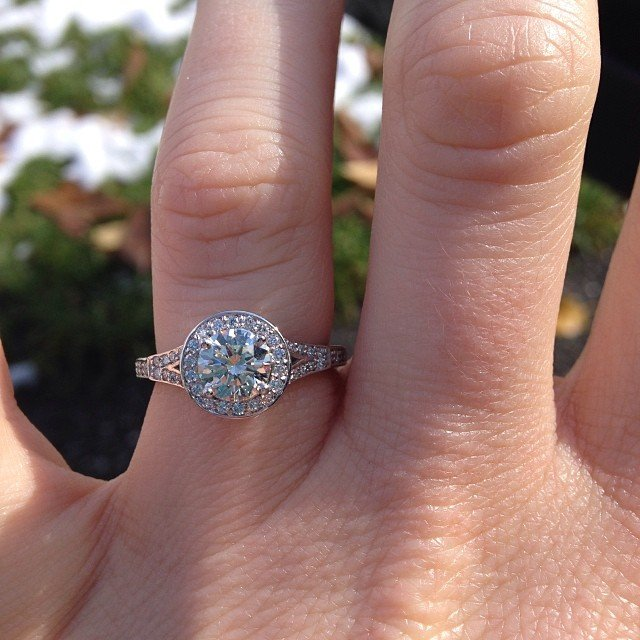 engagement ring selfie
