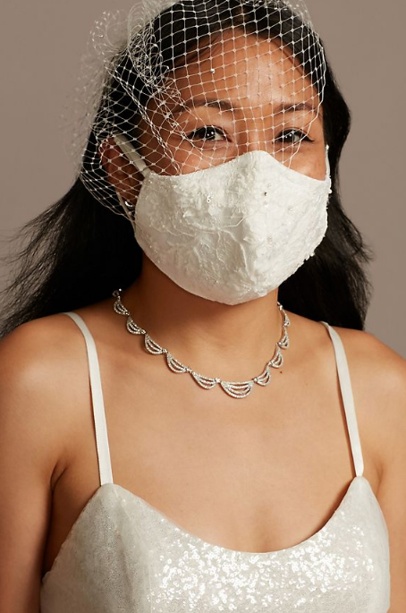 Wedding face mask for the bride