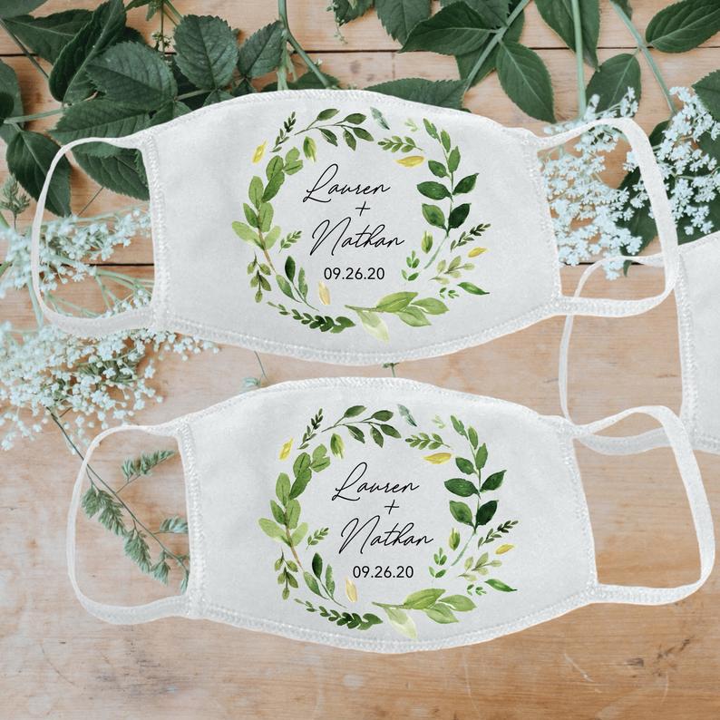Wedding face masks for guests