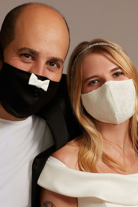 his and hers wedding face masks