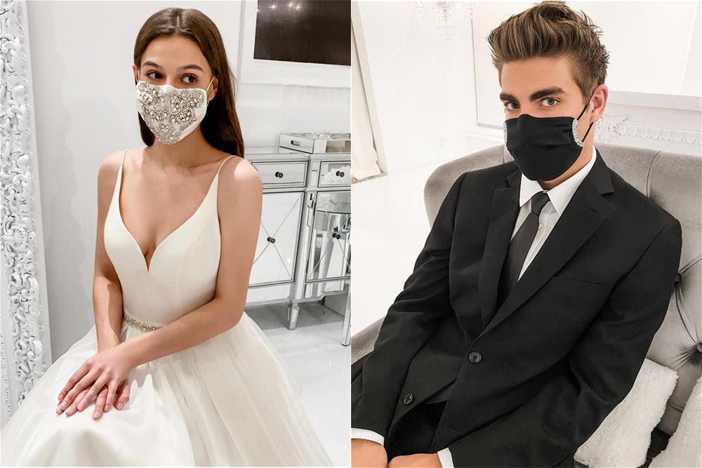 Winnie Couture wedding face masks