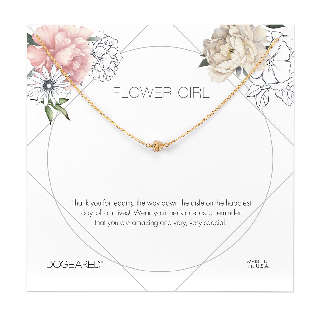 Dogeared Flower Girl Pave Sparkling Necklace