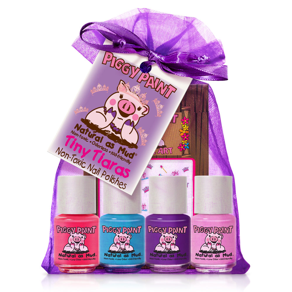 Piggy Paint Nail Polish Tiny Tiaras Gift Set
