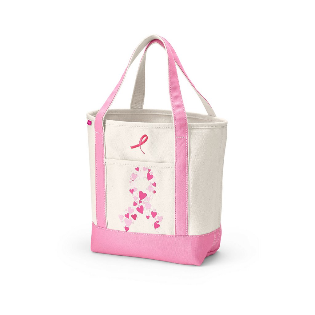 Lands End Pink Thread Collection Tote
