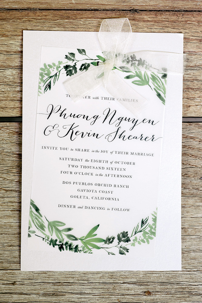 greenhouse wedding invitation