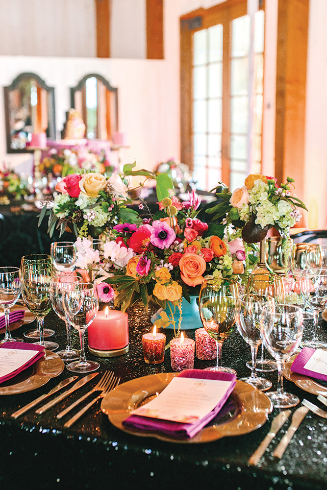 bold wedding centerpieces