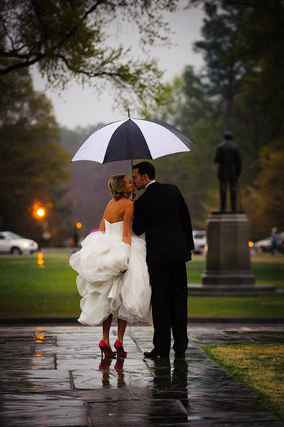 umbrella newlyweds