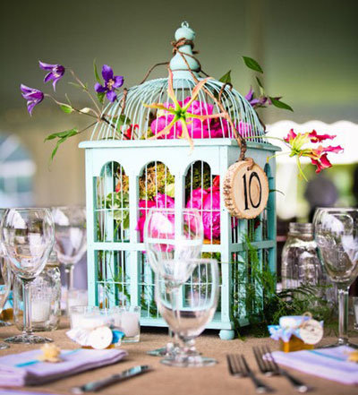 birdcage wedding centerpiece