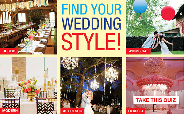 Wedding Style Quiz What Your Wedding Style Find Out Now Rachael Edwards