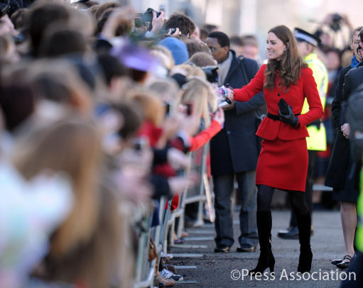 kate greeting public
