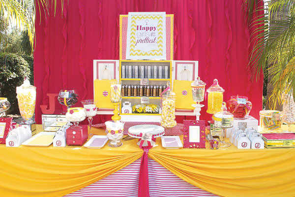 beauty-themed bridal shower