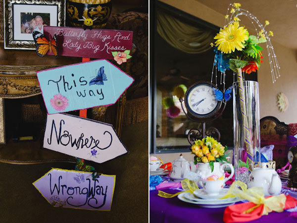 Tea party themed bridal showers bridalguide for Alice in wonderland birthday decoration ideas
