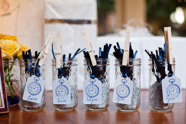 around the clock themed bridal shower bridalguide