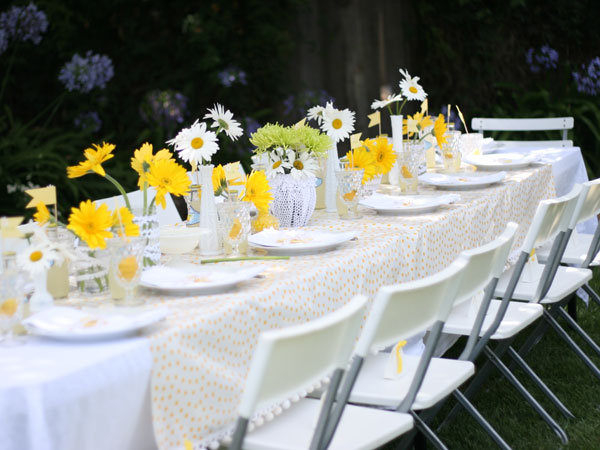 YellowThemed Bridal Shower  BridalGuide