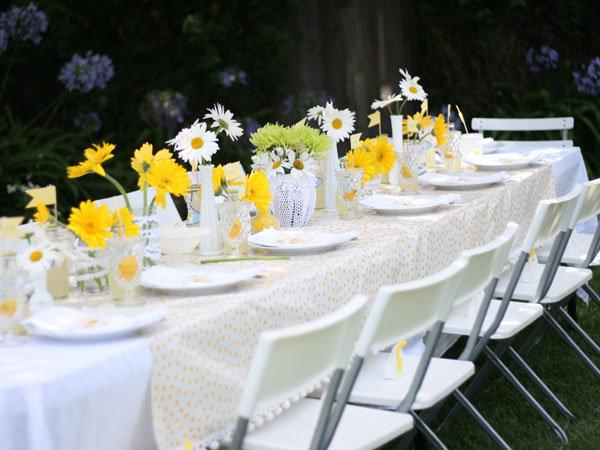 yellow themed bridal shower bridalguide