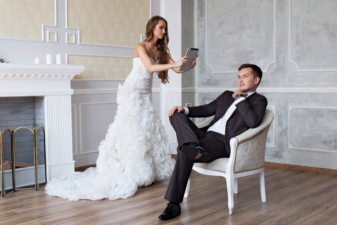 bride photographing groom