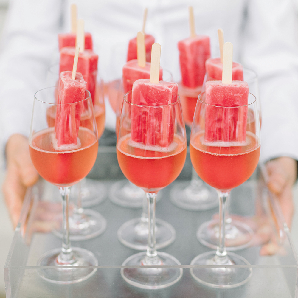 Wedding popsicle cocktails