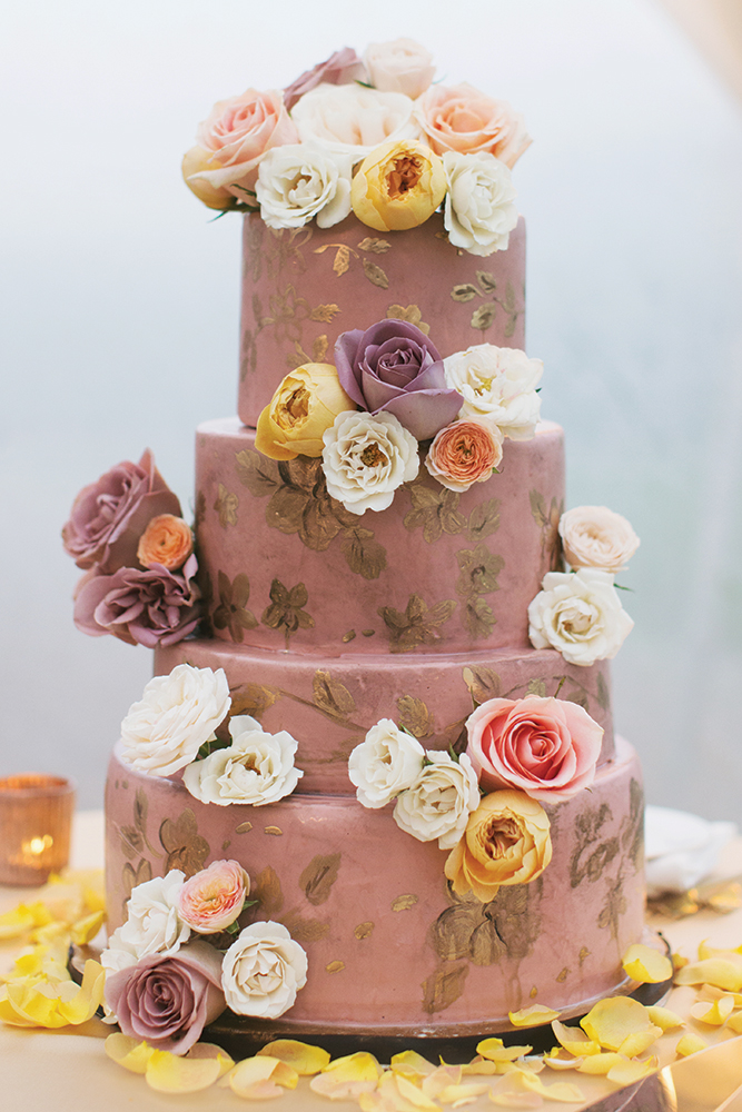 Mauve wedding cake