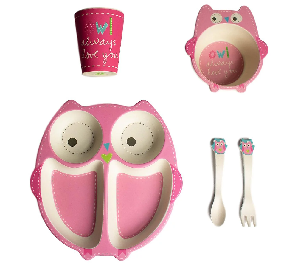 bamboozle olivia owl plate and cup set