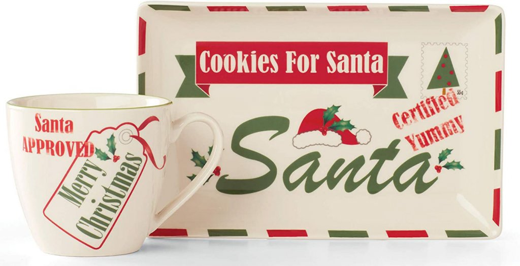 lenox milk and cookies for santa
