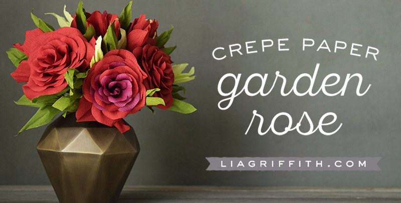 diy crepe flower garden rose