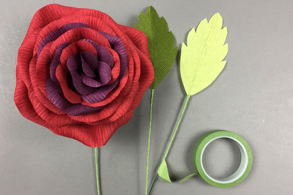 diy crepe flower garden rose