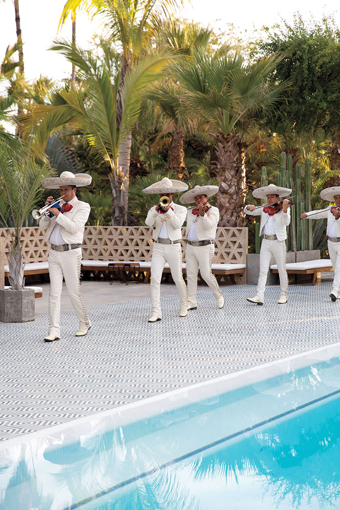 Mariachi band at wedding ceremony