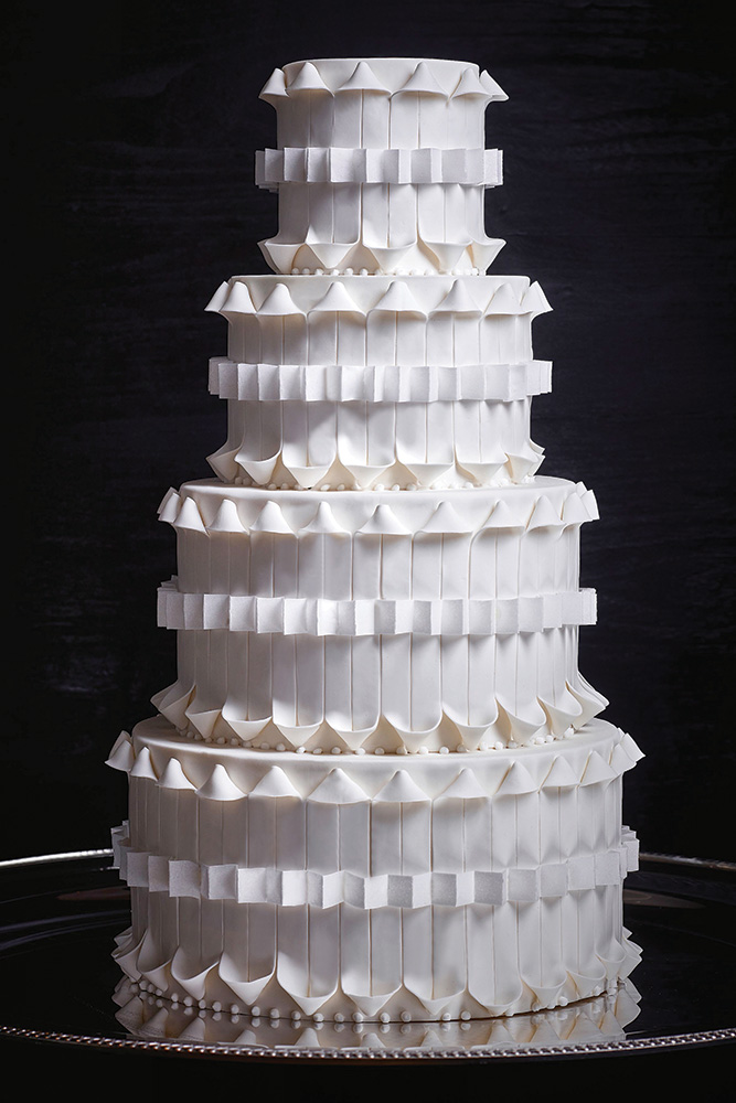 Origami inspired wedding cake
