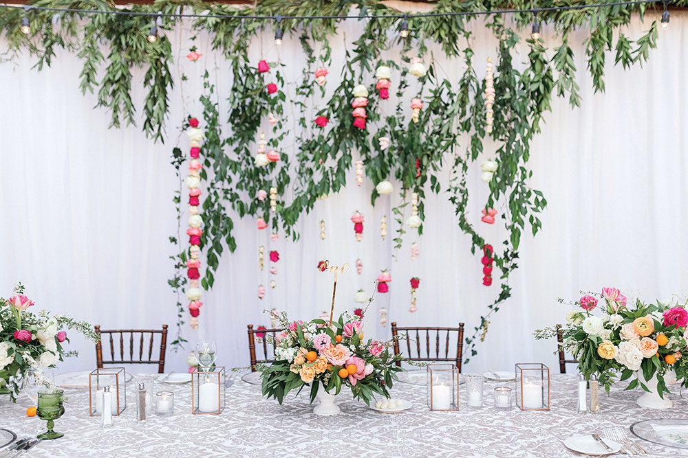 Spring Wedding Reception Decor