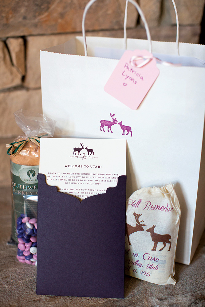 winter wedding welcome bag