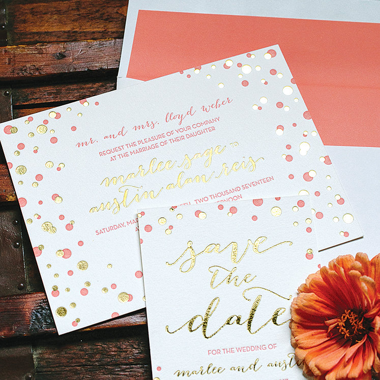 Bold Wedding Ceremony Invitations