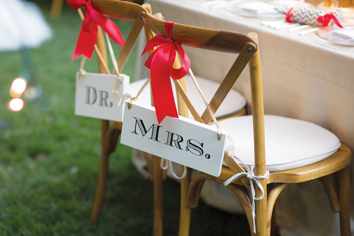 dr and mrs sweetheart table signs