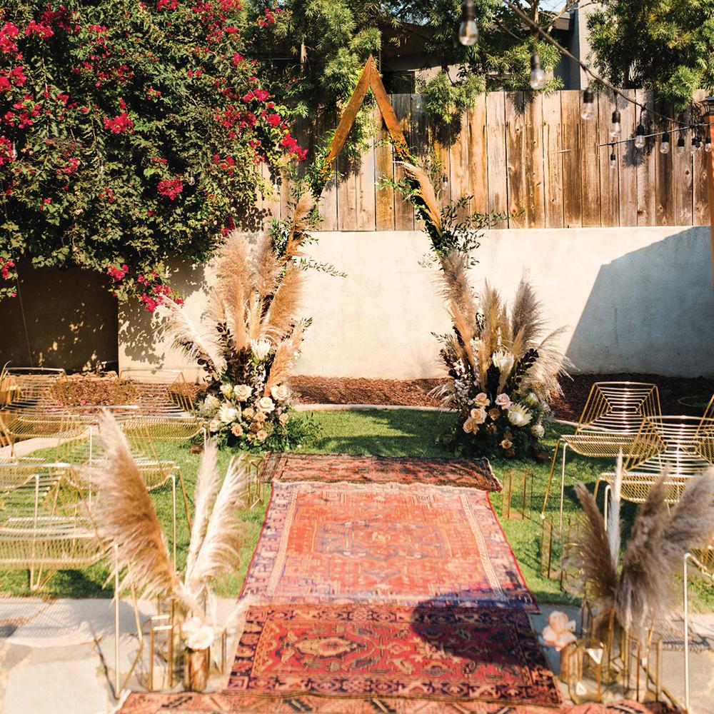 boho chic outdoor wedding ceremony