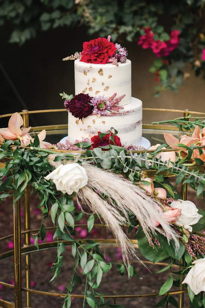 boho chic wedding cake