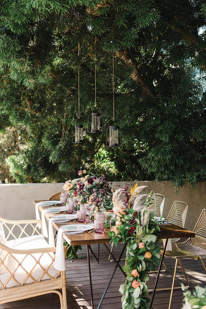 backyard boho chic wedding